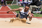 Joey Marini of the Monmouth Hawks competes in the men's long jump on Day Two of the VertKlasse Meeting at Vert Stadium on the campus of High Point University on April 2, 2016 in High Point, North Carolina.  (Brian Westerholt/Sports On Film)