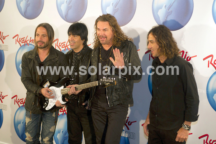 **ALL ROUND PICTURES FROM SOLARPIX.COM**                                             **WORLDWIDE SYNDICATION RIGHTS EXCEPT SPAIN - NO SYNDICATION IN SPAIN**                                                                                  Caption:  Official presentation of Rock in Rio-2012 to be celebrate this year in Madrid. With the presence of the Mexican group Mana and Roberto Medina president and creator of Rock in Rio                                                                             This pic:  Mana Group                                                                                            JOB REF: 14497       DMS       DATE:  21.02.2012                                                          **MUST CREDIT SOLARPIX.COM OR DOUBLE FEE WILL BE CHARGED**                                                                      **MUST AGREE FEE BEFORE ONLINE USAGE**                               **CALL US ON: +34 952 811 768 or LOW RATE FROM UK 0844 617 7637**