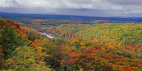 Chequamegon National Forest, WI<br /> View from St. Peter's Dome (WI State Natural Area) at 1600 ft overlooking Chequamegon nation Forest in fall