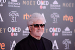 Pedro Almodovar attends to the Red Carpet of the Goya Awards 2017 at Madrid Marriott Auditorium Hotel in Madrid, Spain. February 04, 2017. (ALTERPHOTOS/BorjaB.Hojas)