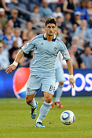 Milos Stojcev (88)  midfielder Sporting KC in action... Sporting Kansas City defeated Portland Timbers 3-1 at LIVESTRONG Sporting Park, Kansas City, Kansas.