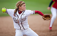 STANFORD, CA - April 2, 2011: Ashley Hansen of Stanford softball during Stanford's game against Arizona at Smith Family Stadium. Stanford lost 6-1.