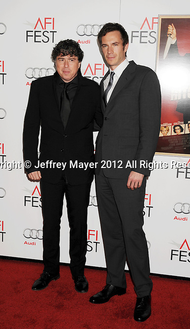 HOLLYWOOD, CA - NOVEMBER 01: Sacha Gervasi and James D'Arcy arrive at the opening night gala premiere of 'Hitchcock' during the 2012 AFI FEST at Grauman's Chinese Theatre on November 1, 2012 in Hollywood, California.