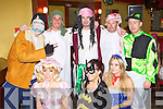 Having fun at the New Year's Eve fancy dress party in Hickey's bar Castleisland on Friday night was front row l-r: Karen O'connor, Ashley Roche, Sarah O'Neill. Back row: Philip O'Connell, Anthony Walsh, Cieran Quinlan, John Feehan and Patrick Hickey