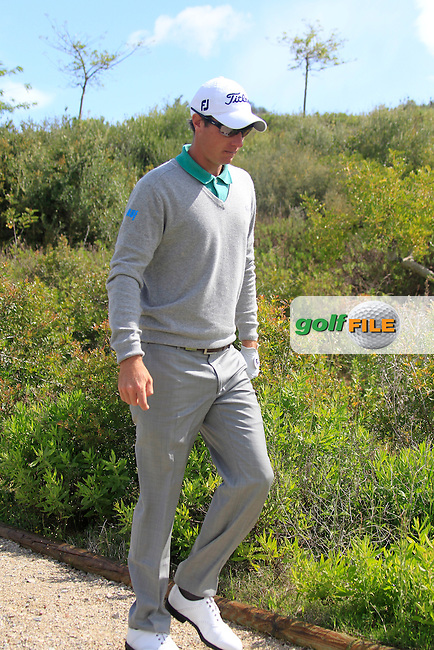 Nicolas Colsaerts (BEL) walks off the 13th tee during Sunday morning's Semi Final Matches of the Volvo World Matchplay Championship at Finca Cortesin, Casares, Spain 20th May 2012 (Photo Eoin Clarke/www.golffile.ie)