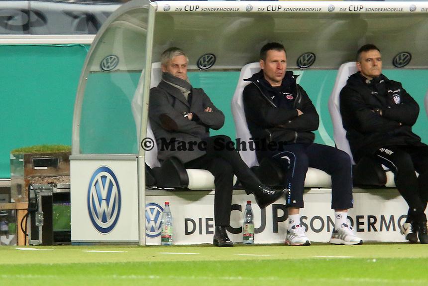 Trainer Armin Veh (Eintracht) - Eintracht Frankfurt vs. Borussia Dortmund, DFB-Pokal Viertelfinale