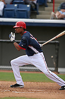 Washington Nationals Nook Logan during a Grapefruit League Spring Training game at Spacecoast Stadium on March 19, 2007 in Melbourne, Florida.  (Mike Janes/Four Seam Images)