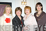 Joan Daly Tralee, Margaret O'Connor Fossa, Ann Culloty Beaufort and Delores Croke-Daly Killarney at the Christmas in Killarney fashion show in the Killarney Park Hotel on Thursday night..