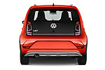 Straight rear view of a 2018 Volkswagen Up Cross Up 5 Door Hatchback stock images