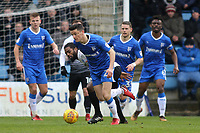 Callum Reilly of Gillingham tries to shake off a challenge from Peterborough's Anthony Grant during Gillingham vs Peterborough United, Sky Bet EFL League 1 Football at the MEMS Priestfield Stadium on 10th February 2018