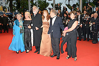 """Emmanuelle Riva, Susanne Haneke,  Michael Haneke, Isabelle Huppert, Jean-Louis Trintignant and Nadine Trintignant attending the """"Amour"""" Premiere during the 65th annual International Cannes Film Festival in Cannes, France, 20th May 2012..Credit: Timm/face to face /MediaPunch Inc. ***FOR USA ONLY***"""