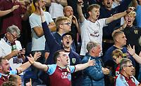 Burnley fans celebrate Jack Cork's goal<br /> <br /> Photographer Alex Dodd/CameraSport<br /> <br /> UEFA Europa League - Europa League Qualifying Round 2 2nd Leg - Burnley v Aberdeen - Thursday 2nd August 2018 - Turf Moor - Burnley<br />  <br /> World Copyright © 2018 CameraSport. All rights reserved. 43 Linden Ave. Countesthorpe. Leicester. England. LE8 5PG - Tel: +44 (0) 116 277 4147 - admin@camerasport.com - www.camerasport.com