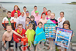 BE SAFE, BE SEEN: Some of the kids who will be taking part in the Water Safety courses which are coming up at Glin Pier, including lifeguards Donnacha O'Brien and Carol Dickson.