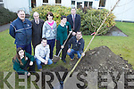 PLANTING: Gathered for the planting of new trees at Killorglin Community College on Friday morning last were front, l-r: Molly Begley, Andrew Finnegan, Damien Griffin (Griffin Plant). Back l-r: John Healy (Tidy Towns), Jimmy Healy (Tidy Towns), Melissa O'Riordan, Con Moynihan (Principal), William Mitchell.
