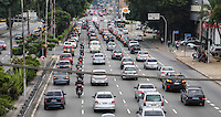 SAO PAULO, SP, 05 DE FEVEREIRO 2013 - TRANSITO - Transito na tarde desta terca-feira na Radial Leste sentido bairro. FOTO: VANESSA CARVALHO - BRAZIL PHOTO PRESS.