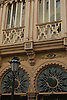 Detail of the pre-modernist/neo-mudejar facade of Can Corbella; architect: Nicolás Lliteras (end of the 19th century)<br /> <br /> Detalle de la fachada pre-modernista/neomudéjar de Can Corbella; arquitecto: Nicolás Lliteras (fin del siglo XIX)<br /> <br /> Detail der prä-modernistischen/neo-maurischen Fassade von Can Corbella; Architekt: Nicolás Lliteras (Ende 19. Jh.)<br /> <br /> 3008 x 2000 px<br /> 150 dpi: 50,94 x 33,87 cm<br /> 300 dpi: 25,47 x 16,93 cm