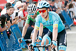 Miguel Angel Lopez Moreno (COL) Astana Pro Team and Green Jersey Alejandro Valverde (ESP) Movistar Team cross the finish line at the end of Stage 14 of the La Vuelta 2018, running 171km from Cistierna to Les Praeres, Nava, Spain. 8th September 2018.<br /> Picture: Unipublic/Photogomezsport | Cyclefile<br /> <br /> <br /> All photos usage must carry mandatory copyright credit (&copy; Cyclefile | Unipublic/Photogomezsport)