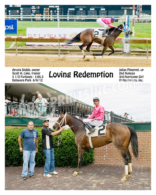 Loving Redemption winning at Delaware Park on 6/6/12