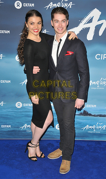 Chloe Hewitt and AJ Pritchard at the &quot;Cirque du Soleil: Amaluna&quot; press night, Royal Albert Hall, Kensington Gore, London, England, UK, on Thursday 12 January 2017.  <br /> CAP/CAN<br /> &copy;CAN/Capital Pictures
