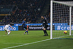 Robin Gosens of Atalanta scores past Samir Handanovic of Inter to level the game at 1-1 during the Serie A match at Giuseppe Meazza, Milan. Picture date: 11th January 2020. Picture credit should read: Jonathan Moscrop/Sportimage