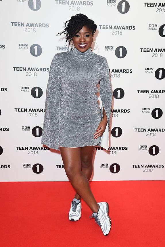 Clara Amfo<br /> arriving for the Radio 1 Teen Awards 2018 at Wembley Stadium, London<br /> <br /> ©Ash Knotek  D3454  21/10/2018