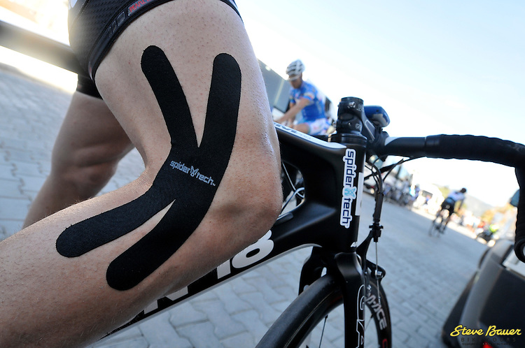 SpiderTech tape gets some use at the Presidential Tour of Turkey from April 22 to 29, 2012. Photo by Brian Hodes/Veloimages