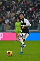 1st December 2019; Allianz Stadium, Turin, Italy; Serie A Football, Juventus versus Sassuolo; Emre Can of Juventus passes the ball forward - Editorial Use