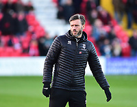 Lincoln City's assistant manager Nicky Cowley during the pre-match warm-up<br /> <br /> Photographer Andrew Vaughan/CameraSport<br /> <br /> The EFL Sky Bet League Two - Lincoln City v Port Vale - Tuesday 1st January 2019 - Sincil Bank - Lincoln<br /> <br /> World Copyright &copy; 2019 CameraSport. All rights reserved. 43 Linden Ave. Countesthorpe. Leicester. England. LE8 5PG - Tel: +44 (0) 116 277 4147 - admin@camerasport.com - www.camerasport.com