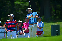 Potomac, MD - June 30, 2017: Bill Haas tees off on the 9th hole during Round 2 of professional play at the Quicken Loans National Tournament at TPC Potomac at Avenel Farm in Potomac, MD, June 30, 2017.  (Photo by Don Baxter/Media Images International)