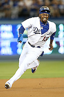 September 24, 2014 Los Angeles, CA Los Angeles Dodgers shortstop Hanley Ramirez #13 during an MLB game between the San Francisco Giants and the Los Angeles Dodgers played at Dodger Stadium The Dodgers defeated the Giants 9-1 to win the National League West Title.