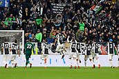 5th November 2017, Allianz Stadium, Turin, Italy; Serie A football, Juventus versus Benevento; Juventus players celebrate at the end of the match