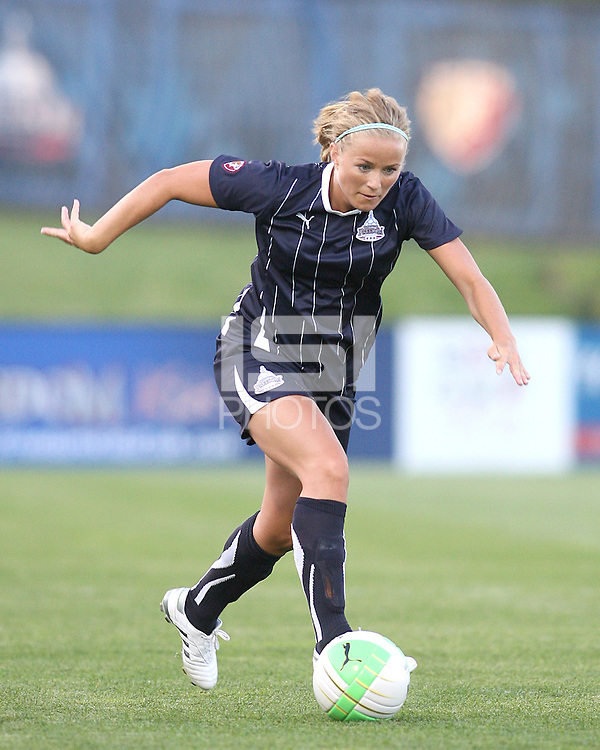 Lene Mykjaland #7 of the Washington Freedom during a WPS match against the Boston Breakers on May 8 2010, at the Maryland Soccerplex, in Boyds, Maryland. The game ended in a 0-0 tie.