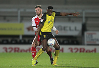 Fleetwood Town's Ashley Eastham battles with Burton Albion's Lucas Atkins<br /> <br /> Photographer Mick Walker/CameraSport<br /> <br /> The EFL Sky Bet League One - Burton Albion v Fleetwood Town - Saturday 11th January 2020 - Pirelli Stadium - Burton upon Trent<br /> <br /> World Copyright © 2020 CameraSport. All rights reserved. 43 Linden Ave. Countesthorpe. Leicester. England. LE8 5PG - Tel: +44 (0) 116 277 4147 - admin@camerasport.com - www.camerasport.com