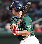 Catcher Dan Butler (12) of the Greenville Drive, Class A affiliate of the Boston Red Sox, at a game against the Lexington Legends April 25, 2010, at Fluor Field at the West End in Greenville, S.C. Butler was named the South Atlantic League's Player of the Week for April 19-25, 2010. Butler's batting average ranked second in the 14-team league, while his slugging percentage (.950) and OPS (1.426) were both tops in the league. Photo by: Tom Priddy/Four Seam Images