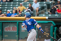 Brian Ward (10) of the Oklahoma City Dodgers at bat against the Salt Lake Bees in Pacific Coast League action at Smith's Ballpark on May 25, 2015 in Salt Lake City, Utah.  (Stephen Smith/Four Seam Images)