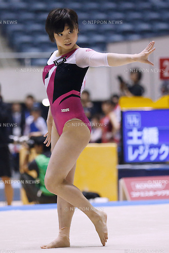 Akiho Sato, APRIL 25, 2015 - Artistic Gymnastics : The 69th All Japan Gymnastics Championship Wmen's Individual All-Around Floor at 1st Yoyogi Gymnasium, Tokyo, Japan. (Photo by Sho Tamura/AFLO SPORT) [1180]