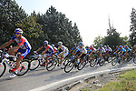 The peloton climb Colle Brianza during the 112th edition of Il Lombardia 2018, the final monument of the season running 241km from Bergamo to Como, Lombardy, Italy. 13th October 2018.<br /> Picture: Eoin Clarke | Cyclefile<br /> <br /> <br /> All photos usage must carry mandatory copyright credit (© Cyclefile | Eoin Clarke)