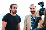 """Ola Rapace and the director of the film Jean-Patrick Benes at the interview with Making Off during the presentation of the film """"Ares"""" at Festival de Cine Fantastico de Sitges in Barcelona. October 11, Spain. 2016. (ALTERPHOTOS/BorjaB.Hojas)"""