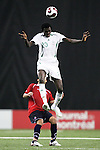 15 July 2007: Nigeria's Moses Adams (20). Chile's Under-20 Men's National Team defeated Nigeria's Under-20 Men's National Team 4-0 after extra time in a  quarterfinal match at Olympic Stadium in Montreal, Quebec, Canada during the FIFA U-20 World Cup Canada 2007 tournament.