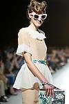 October 17, 2011: Tokyo, Japan - A model walks down the catwalk wearing G.V.G.V. during Mercedes-Benz Fashion Week Tokyo 2012 Spring/Summer. The Mercedes-Benz Fashion Week Tokyo runs from October 16-22. (Photo by Christopher Jue/AFLO)