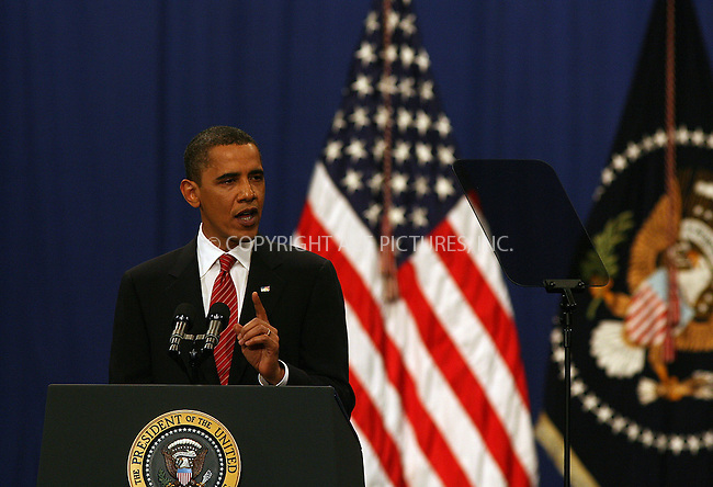 WWW.ACEPIXS.COM . . . . .  ....December 1 2009, West Point NY.... U.S. Present Barack Obama addressed cadets at the US Military Academy at West Point on December 1 2009 in New York. President Obama said that he will deploy 30,000 more troops to Afghanistan by the middle of next year to continue the battle against the Taliban and al-Qaeda terrorists.  ....Please byline: PHILIP VAUGHAN - ACE PICTURES.... *** ***..Ace Pictures, Inc:  ..Philip Vaughan (212) 243-8787 or (646) 679 0430..e-mail: info@acepixs.com..web: http://www.acepixs.com