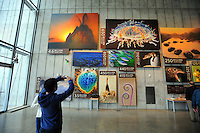 Dec. 30, 2009 - San Francisco, California, USA - People view the stunning art on display at the California California Academy of Sciences Natural History Museum in San Francisco Wednesday December 30, 2009.  (Photo by Alan Greth)