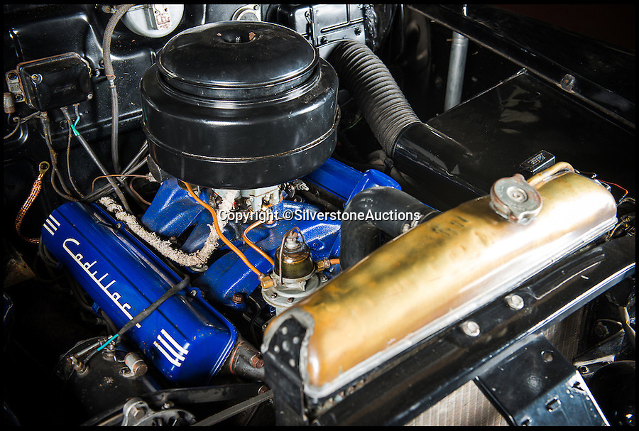 BNPS.co.uk (01202 558833)<br /> Pic: SilverstoneAuctions/BNPS<br /> <br /> ***Please Use Full Byline***<br /> <br /> The engine of the cadillac once owned by former Argentine president Juan Peron and his wife Eva. <br /> <br /> A luxury Cadillac limousine once owned by Eva Peron and her husband Juan, the former president of Argentina, has emerged for sale for 260,000 pounds.<br /> <br /> The jet black motor was used to drive Peron, known by the affectionate nickname Evita, and her husband around capital city Buenos Aires on state duties.<br /> <br /> The left-hand drive 1951 Cadillac boasts a 5.4-litre, eight cylinder engine and has a black leather bench seat in the front and a beige cloth seat in the back.<br /> <br /> Incredibly the 63-year-old car has just 3,489 miles on the clock.<br /> <br /> The car is expected to fetch 260,000 pounds when it goes under the hammer on behalf of its owner in a Silverstone Auctions sale on September 4.<br /> <br /> Also included in the sale is a jewel found inside the car when it arrived in the UK from Argentina. It is thought to have come from one of Evita's dresses.