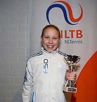 November 30, 2014, Almere, Tennis, Winter Youth Circuit, WJC,  Prizegiving,  Melissa Boyden<br /> Photo: Henk Koster