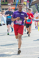 The University of Manchester 'Purple Wave' prior to the Great Manchester Run in Manchester City Centre on Sunday 20th May 2018.