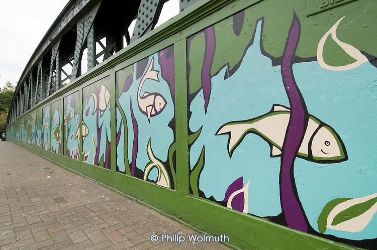 Mural on Gloucester Avenue Railway Bridge
