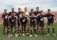 11 September 2010: The starting eleven for DC United during a game between DC United and Toronto FC at BMO Field in Toronto..DC United won 1-0..