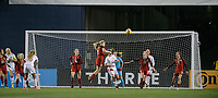 San Diego, Ca - Sunday, January 21, 2018: USWNT Defense during a USWNT 5-1 victory over Denmark at SDCCU Stadium.
