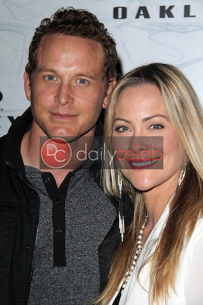 Cole Hauser, Cynthia Daniel<br /> at Oakley's Disruptive By Design Launch Event, RED Studios, Los Angeles, CA 02-24-14<br /> Dave Edwards/DailyCeleb.com 818-249-4998