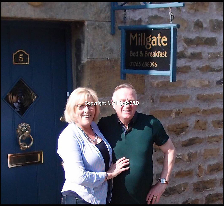 BNPS.co.uk (01202 558833)<br /> Pic: MillgateB&B/BNPS<br /> <br /> Sue and Andrew Burrell.<br /> <br /> Budding B & B owners will want to get their hands on this property - a ready-made business that has already been ranked the world's best bed and breakfast.<br /> <br /> Sue and Andrew Burrell turned their family home into an award-winning B & B in less than five years, but the couple now want to retire on a high and are looking to pass the torch on.<br /> <br /> The beautiful Grade II listed Millgate, in Masham, North Yorks, is on the market with Buchanan Mitchell for £499,000.